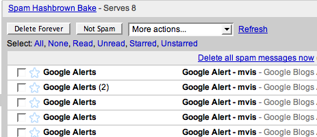 google apps flags alerts as spam