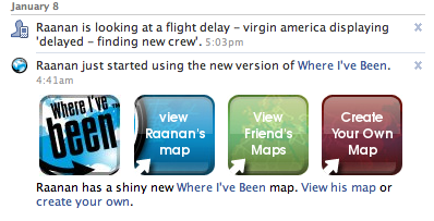 where i've been facebook app